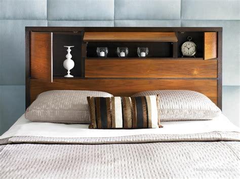 ag e chambre tête de lit avec rangement gain de place et décoration