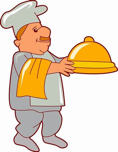 Cooking Clipart Chef Serving Platter Clip Chefs