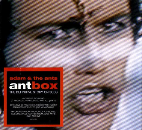 adam   ants antbox cd compilation discogs