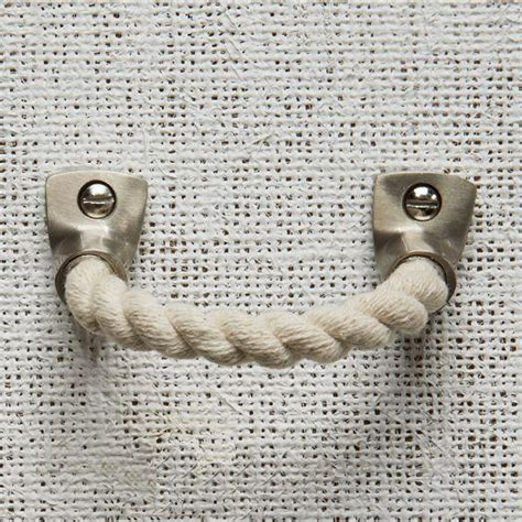 nautical rope cabinet pulls rope metal handle cotton west elm