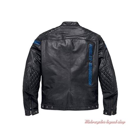 Blouson cuir 115th Anniversary Harley Davidson homme Motorcycles Legend shop