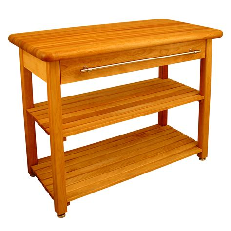 Contemporary Harvest Table With Shelf By Catskill