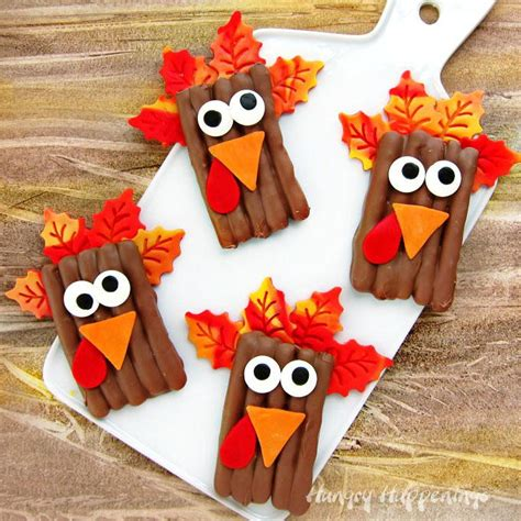turkey pretzel thanksgiving treats allfreekidscraftscom