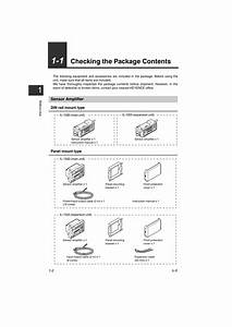 1 Checking The Package Contents  Sensor Amplifier  1 Checking The Package Contents