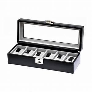 Coffret Rangement Montre : coffret vitrine 6 montres noir the nines ~ Teatrodelosmanantiales.com Idées de Décoration