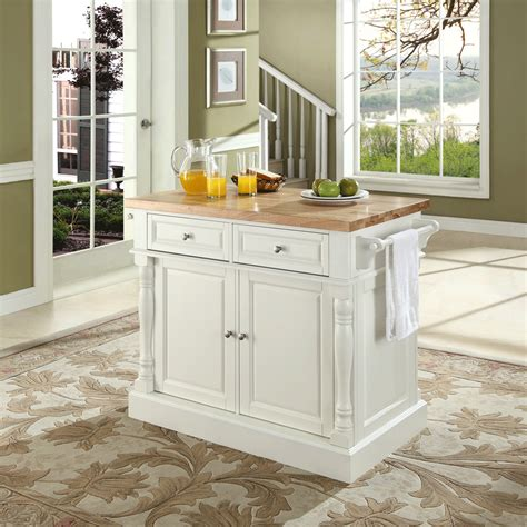 kitchen island butcher block top butcher block top kitchen island in white finish modern