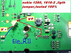 Mobile Phone Fix User Manual And Applications   Nokia 1280 Display Light Jumper Solution Without