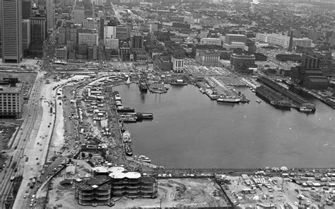 a bird s view eye of baltimore in 1973