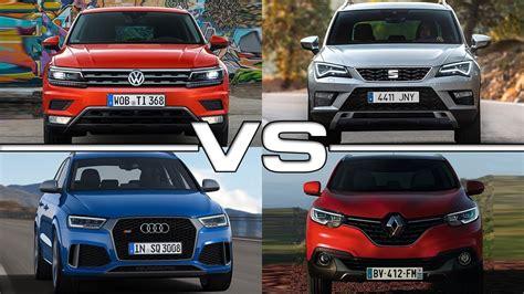 seat ateca vs tiguan volkswagen tiguan vs seat ateca vs audi q3 vs renault