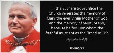 wedding quotes paul ii eucharistic quotes from the saints quotesgram