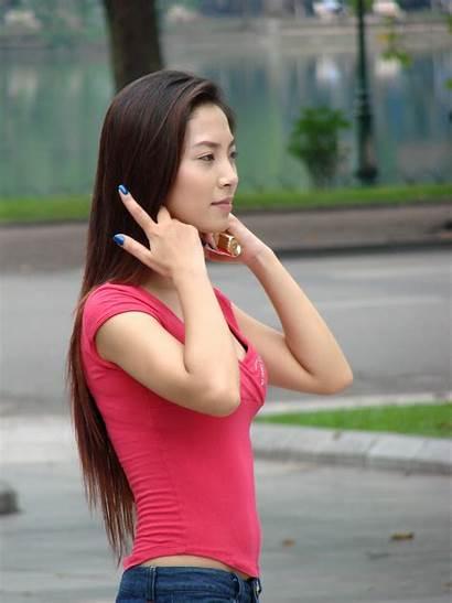 Vietnam Woman Young Viet Nam Hanoi Oriental