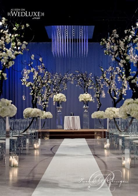 Grand Wedding Decorations - a modern bold black and beautiful wedding in the