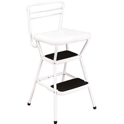 Cosco Retro Chair With Step Stool by Cosco Retro Chair 2 Step Kitchen Stool White