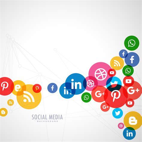 Social Media Background Social Media Logo Background Free Vector
