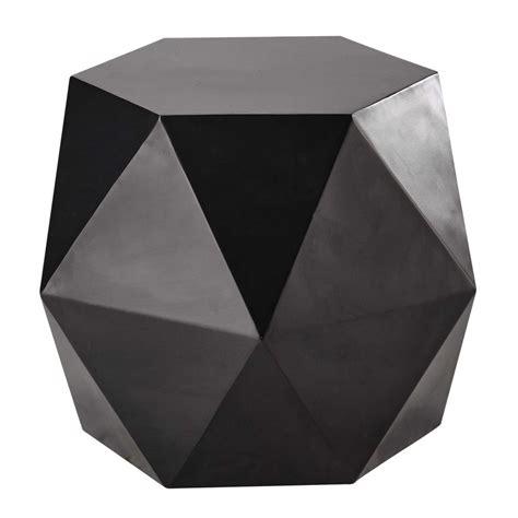 bout de canap 233 en m 233 tal noir l 58 cm hexago maisons du monde