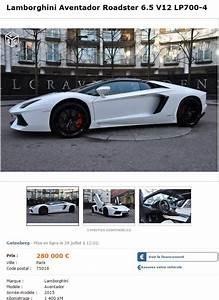 Voiture à Vendre Sur Leboncoin : l 39 annonce amusante propos d 39 une lamborghini aventador roadster en vente sur leboncoin ~ Gottalentnigeria.com Avis de Voitures