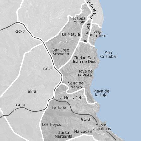 mapa de carretera del centro cono sur las palmas de