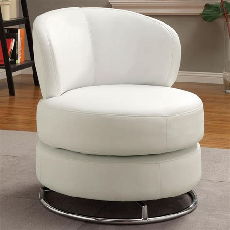 white vinylchrome  modern swivel chair ebay