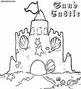 Sandcastle Coloring Pages Print Building Colorings sketch template