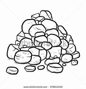 Stack Rock Cartoon Vector Illustration Black Stock Vector ...