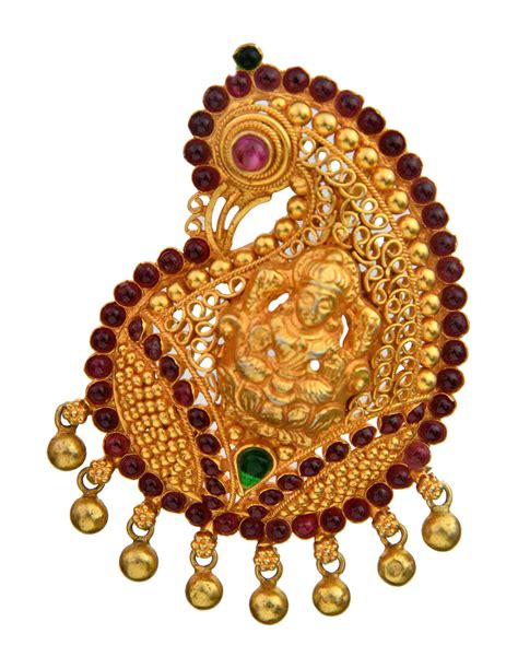 handcrafted goddess lakshmi peacock pendant south indian temple jewelry