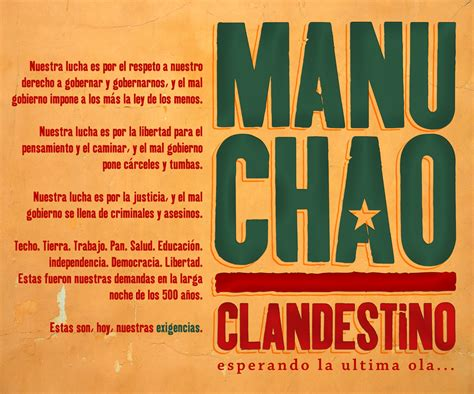 Manu Chao 'clandestino' Poster By Memnoc On Deviantart