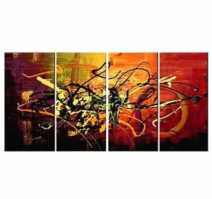 Tableau Peinture Moderne : tableau abstrait color spray ~ Teatrodelosmanantiales.com Idées de Décoration