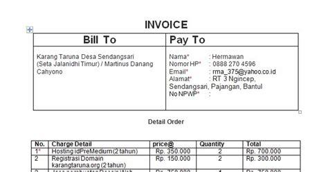Contoh Invoice Jasa by Contoh Faktur Penjualan Jasa Tracy Notes