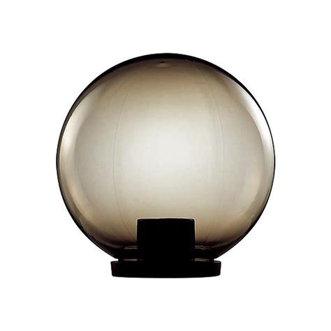 polycarbonate 400mm sphere garden light 240v black base