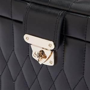 Boite A Bijoux Cuir : moyenne boite bijoux cuir noir caroline wolf ocarat ~ Teatrodelosmanantiales.com Idées de Décoration