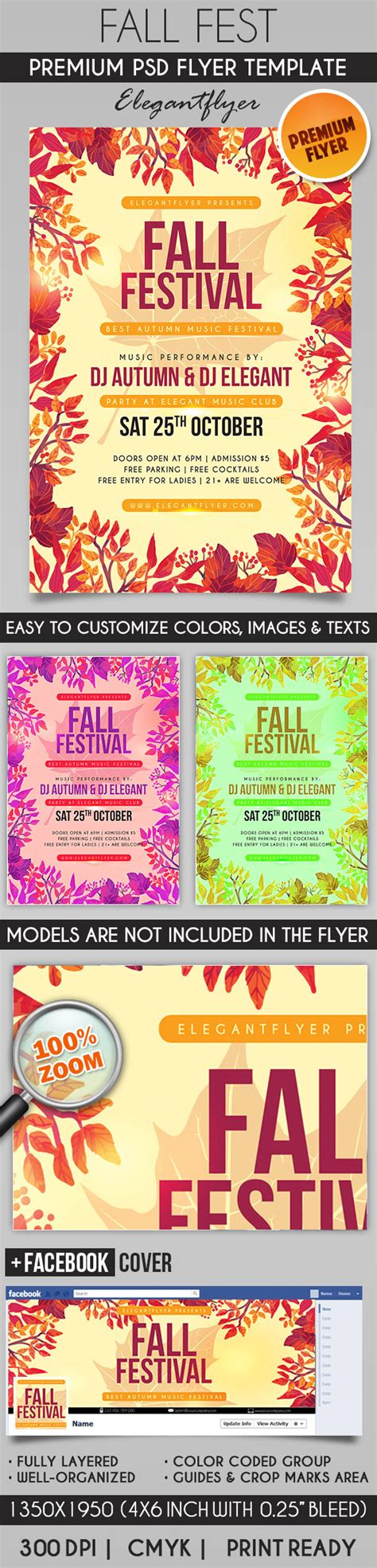 fall festival flyer template fall festival cover psd template flyer flyershitter