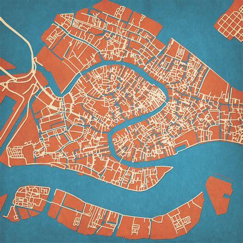venice italy map art city prints