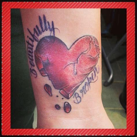 left wrist beautifully broken heart