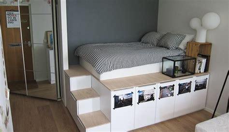 armoire lit bureau escamotable diy platform bed met opbergruimte roomed