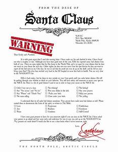 santa warning letter naughty list holiday decor pinterest With naughty letter from santa