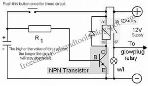 Free Schematic Diagram  The Time Delay Circuit