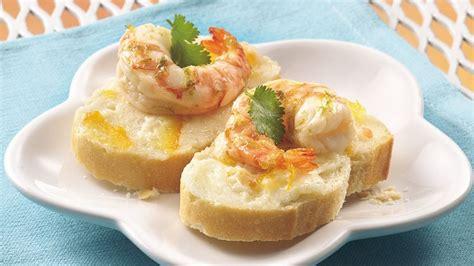 shrimp canape recipe citrus marinated shrimp canapés recipe bettycrocker com