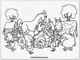 Farm Coloring Animals Ducks Activities Crafts Diy sketch template