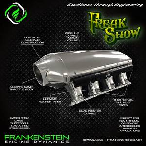 Fed Ls3 Freak Show Billet Intake  Single Injector