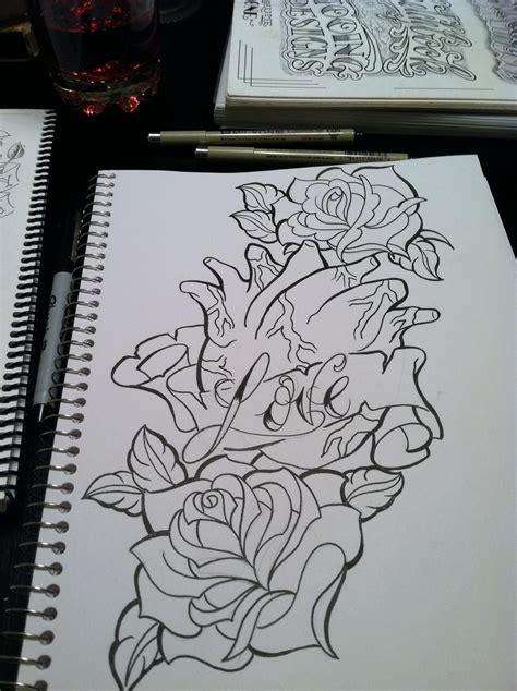 david tower sketch tattoo realistic heart inked ideas