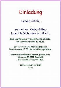 Einverständniserklärung Nachbarn Muster Textvorlage : einladungskarte einladung zum kindergeburtstag ~ Themetempest.com Abrechnung
