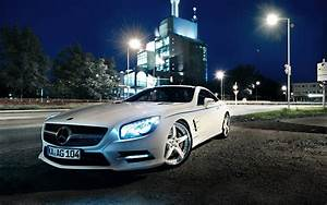 1920x1200 White Mercedes SL desktop PC and Mac wallpaper