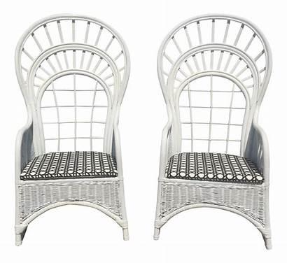 Rattan Throne Peacock Wicker Chair Chairs Pair