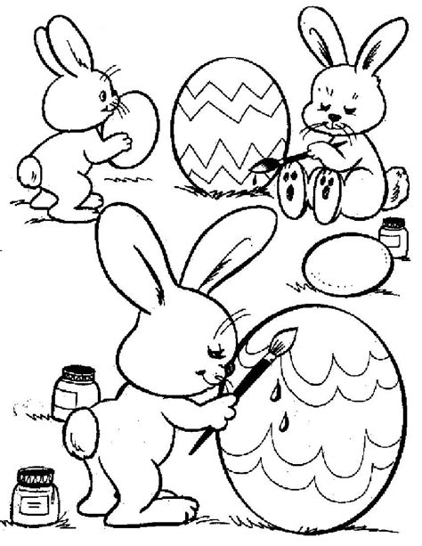 easter pages  color coloring pages
