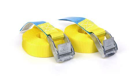 spanngurte mit klemmschloss 2x spanngurte 4 25 m gelb mit klemmschloss din en 12195 2 pes 2x 563br2100254250