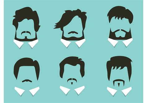 Free Vector Hair and Beard Styles - Download Free Vector ...