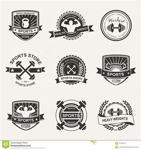 Sport Product Logo by Sports Logo Stock Vector Image 47406313