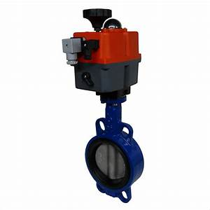 Electric Cast Iron Butterfly Valve With J J Actuator
