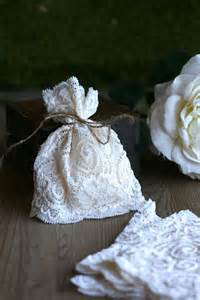 Ivory Lace Wedding Favor Bags