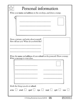 2nd grade 3rd grade writing worksheets addressing letters greatkids